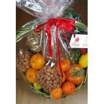 Корзинка фрукты с орехами-bakida-almaq-qiymet-baku-kupit