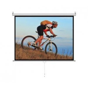 Proyektor pərdələr Cyber M100D Manual Screen (80 x60 )200x152cm, White Matt 3D (M100D)
