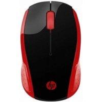 Simsiz siçan HP Wireless Mouse 200, Red (2HU82AA)