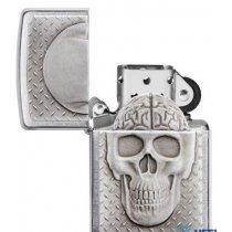 Зажигалка Zippo Skull with Brain-bakida-almaq-qiymet-baku-kupit