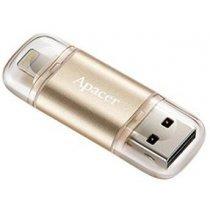 Flesh yaddaş usb Apacer 32 GB USB 3.1 Gen1 Lightning AH190 Gold (AP32GAH190C)