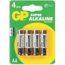 Batareyalar GP battery Super Alkaline AA(4) 15A-2UE4-bakida-almaq-qiymet-baku-kupit