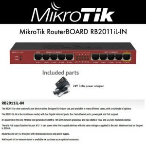 MikroTik Коммутатор RouterBoard RB2011iLS-IN