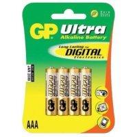 Батарейки GP battery Ultra Alkaline AAA(4) 24AU-2UE4