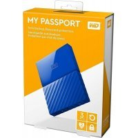Внешний жёсткий диск WD My Passport 4TB USB 3.0 Blue (WDBYFT0040B)