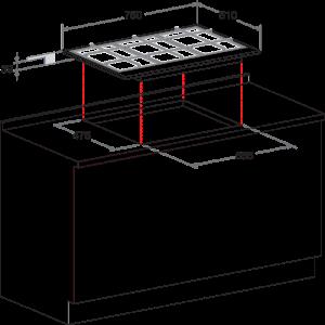 Газовая варочная поверхность Hotpoint-Ariston PCN 750 T(OW) R /HA (Beige)