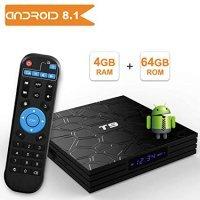 Медиаплеер ANDROID 8,1 TV BOX 4/64, T9, UHD 4K, 8 Core