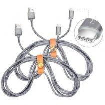 USB кабель Snowkids с нейлоновой оплеткой-bakida-almaq-qiymet-baku-kupit