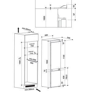 Встраиваемый холодильник Whirlpool SP 40 802 (70sm) SPACE 400 (White)