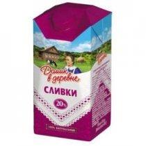 Сливки Домик в деревне 20 % 400 гр-bakida-almaq-qiymet-baku-kupit