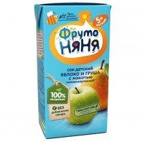 Сок ФрутоНяня яблоко и груша с мякотью без сахара с 5 месяцев, 0,2л-bakida-almaq-qiymet-baku-kupit