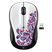 Wireless Mouse  White Graffiti Collection (M325)