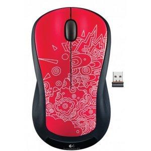 Беспроводная мышь Logitech Red Topogrpahy Graffiti Collection (M325)