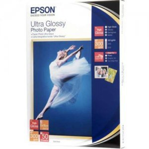 купить Бумага EPSON ULTRA GLOSSY PHOTO PAPER 13x18 50 SHEET (C13S041944)