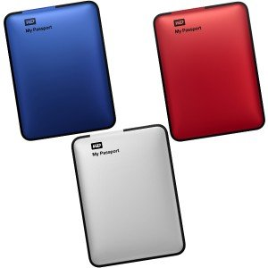 Внешний HDD WD My Passport 2.5 500GB USB 3.0 (Blue, Red, Silver)