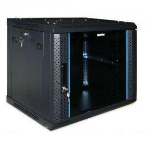 RACK Шкаф настенный Hyperline TWFS-1266-GP-RAL9004 12U (TWFS-1266-GP-RAL9004)