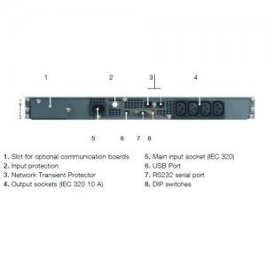 UPS Socomec Smart Rack NET1500-PR-1U without Rack brecket (NET1500-PR-1U)